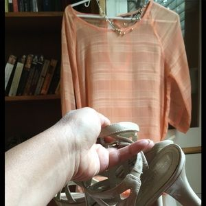 Merrill Pale pastel lightweight blouse.